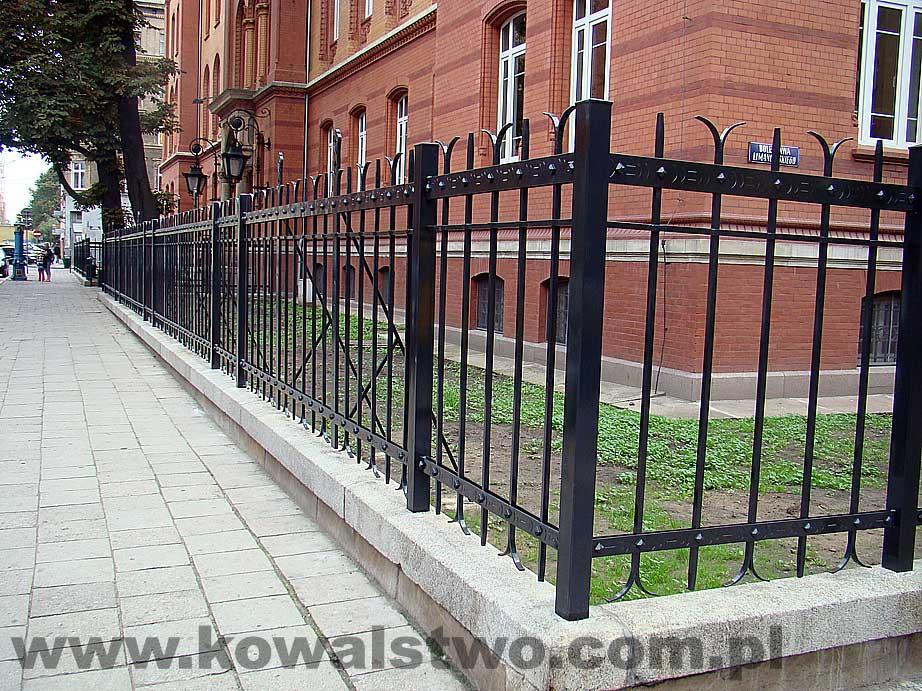 Kowalstwo - Ogrodzenie przy Sądzie Rejonowym w Szczecinie 3
