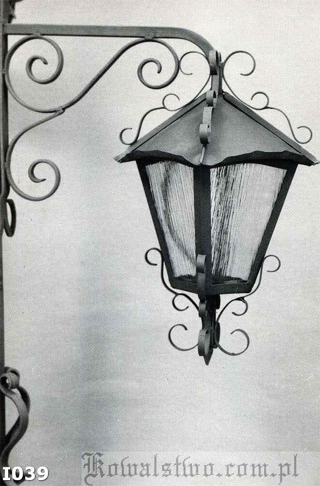 Kowalstwo Szczecin Lampa ozdobna I039